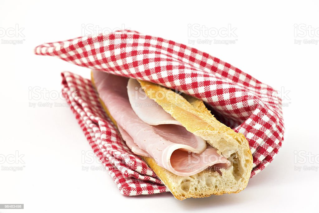 French Baguette Sandwich royalty-free stock photo