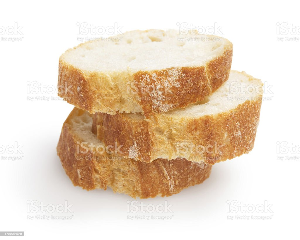 french baguette slices stock photo