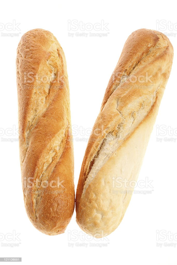 french baguettes isolated stock photo