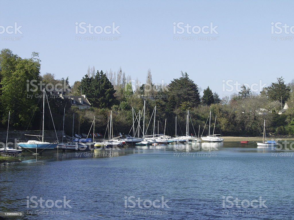 French bay on River Rance stock photo