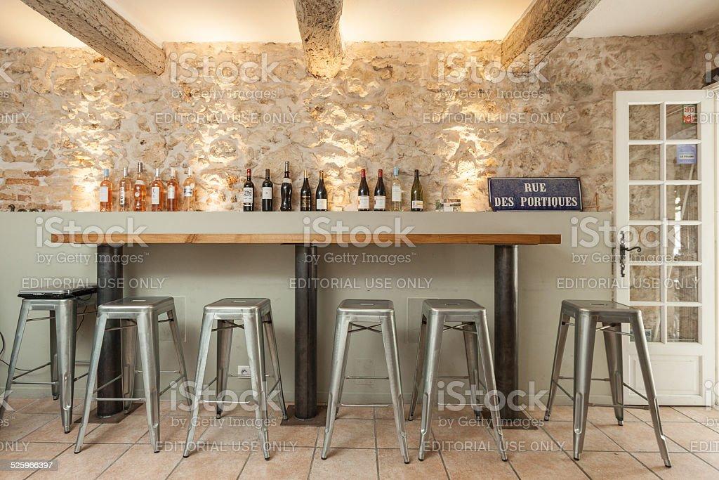 French bistro stock photo