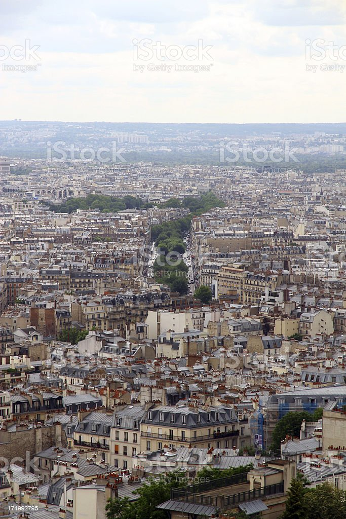 French Boulevards royalty-free stock photo