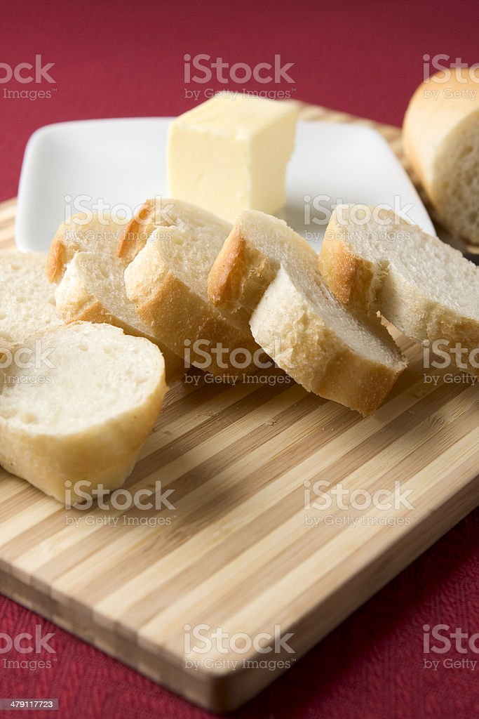 French Bread and Butter royalty-free stock photo