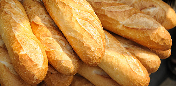 French Bread Bagettes stock photo