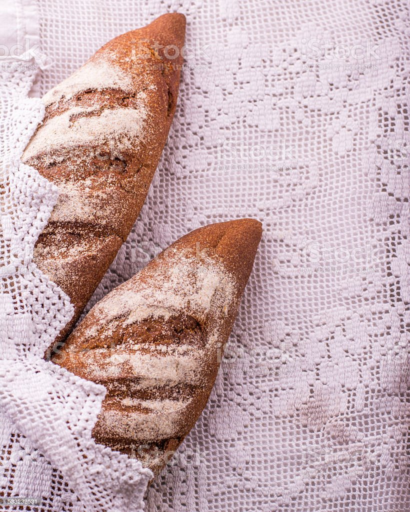 french bread baguette on stock photo