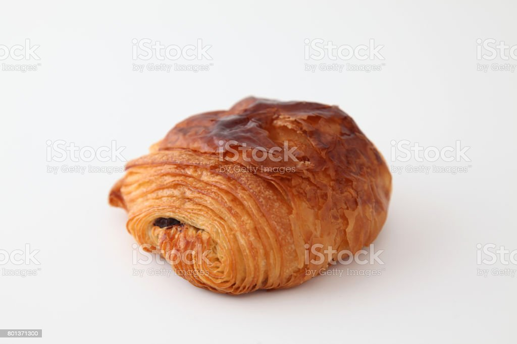 French Bread Pain Au Chocolat Chocolate Croissant On White Background Stock Photo Download Image Now