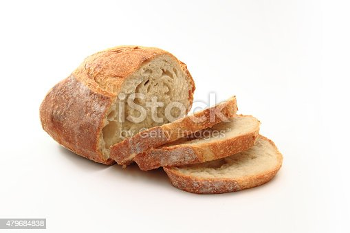 Bread with white backgroundBread isolated on white