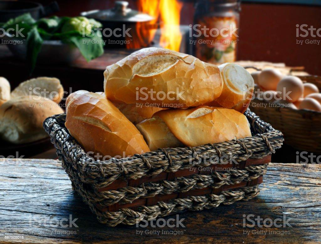 El pan francés - foto de stock