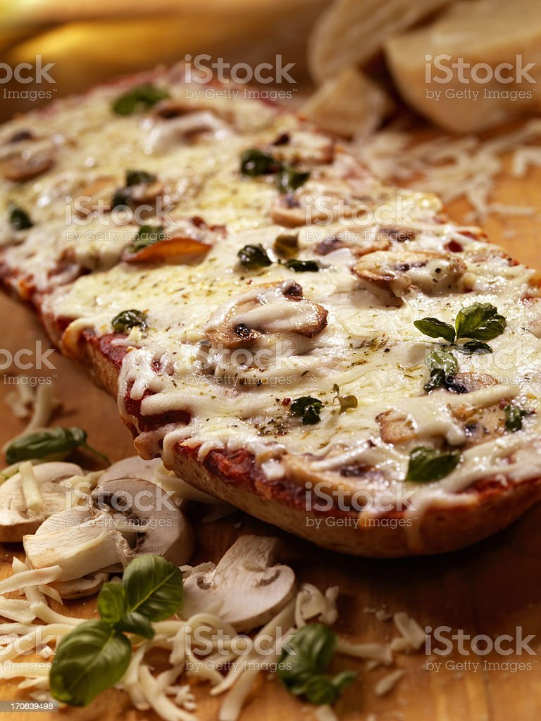 French Bread Pizza stock photo