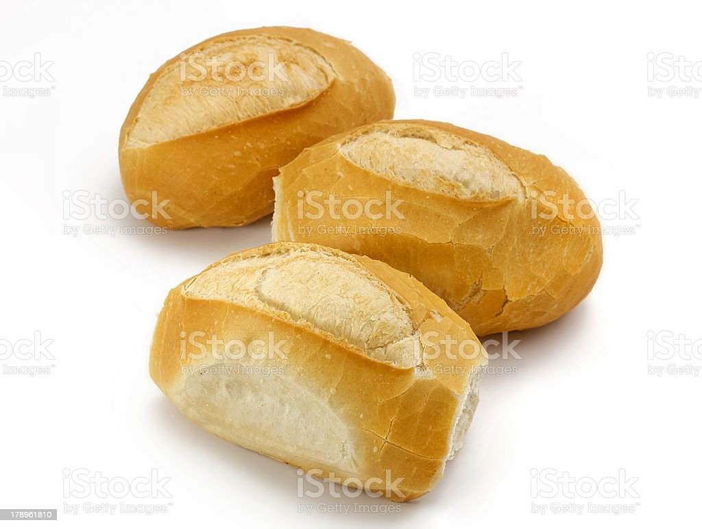 French bread roll group royalty-free stock photo