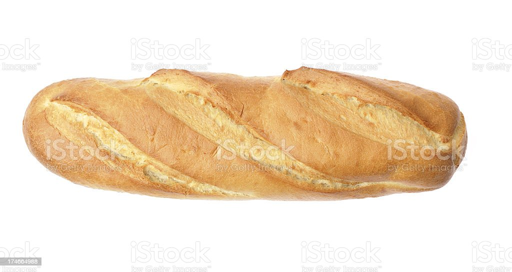 French bread - top view stock photo