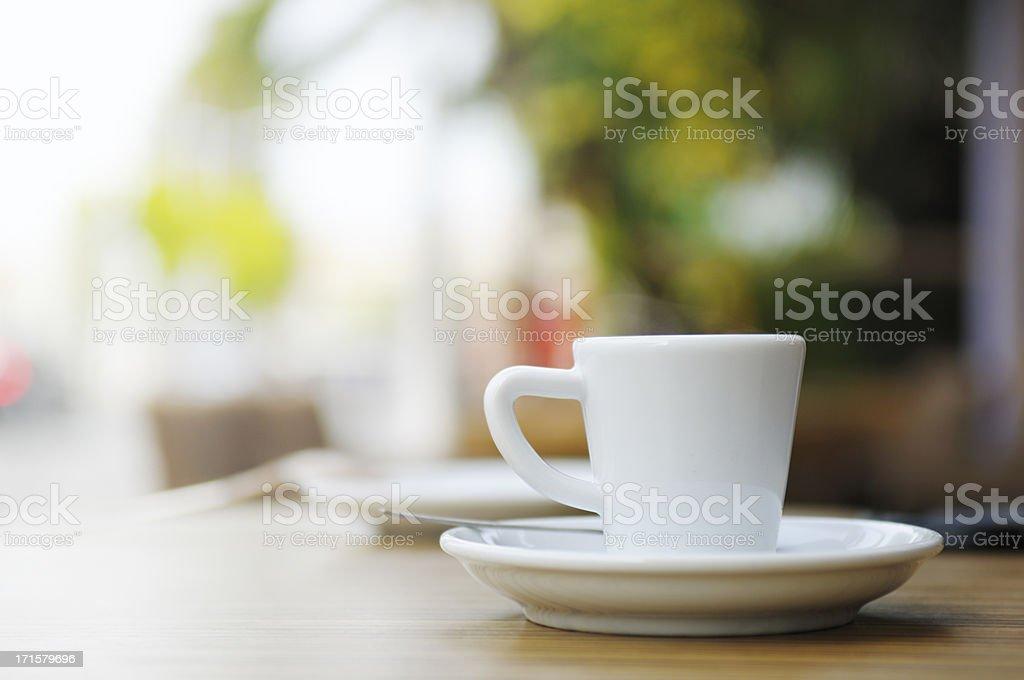 French Cafe Espresso Coffee stock photo