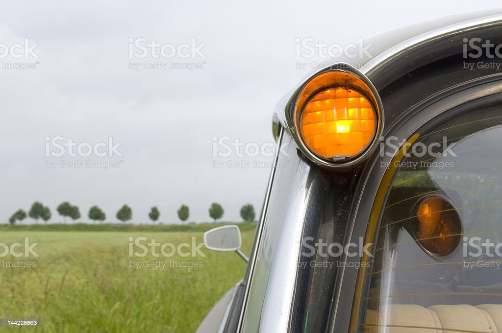 French Car in Dutch Landscape stock photo