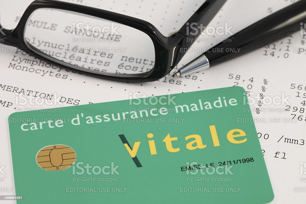 French Carte Vitale (Social Security Card) stock photo