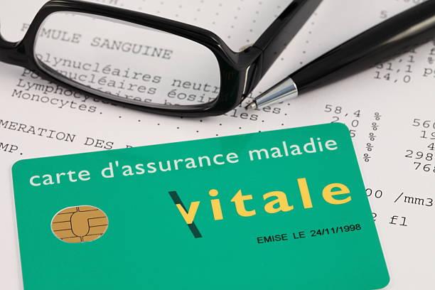 french carte vitale (cartão de social security - previdencia social - fotografias e filmes do acervo