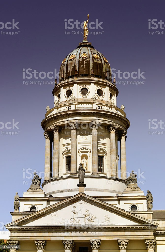french cathedral and schauspielhaus royalty-free stock photo