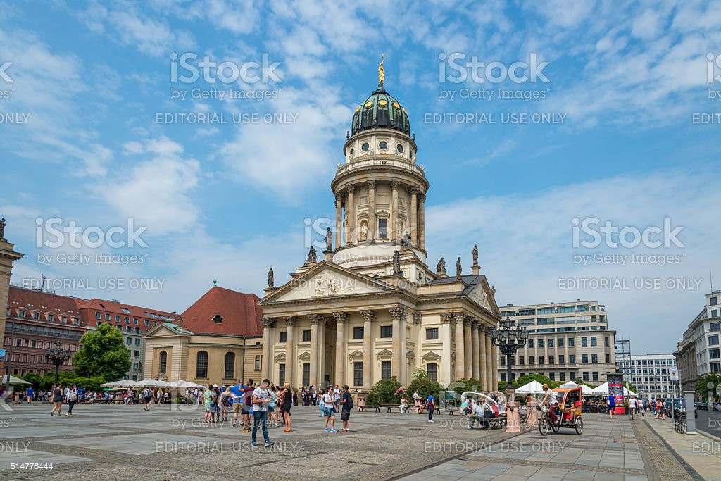 French Cathedral at Gendarmenmarkt in Berlin, Germany stock photo