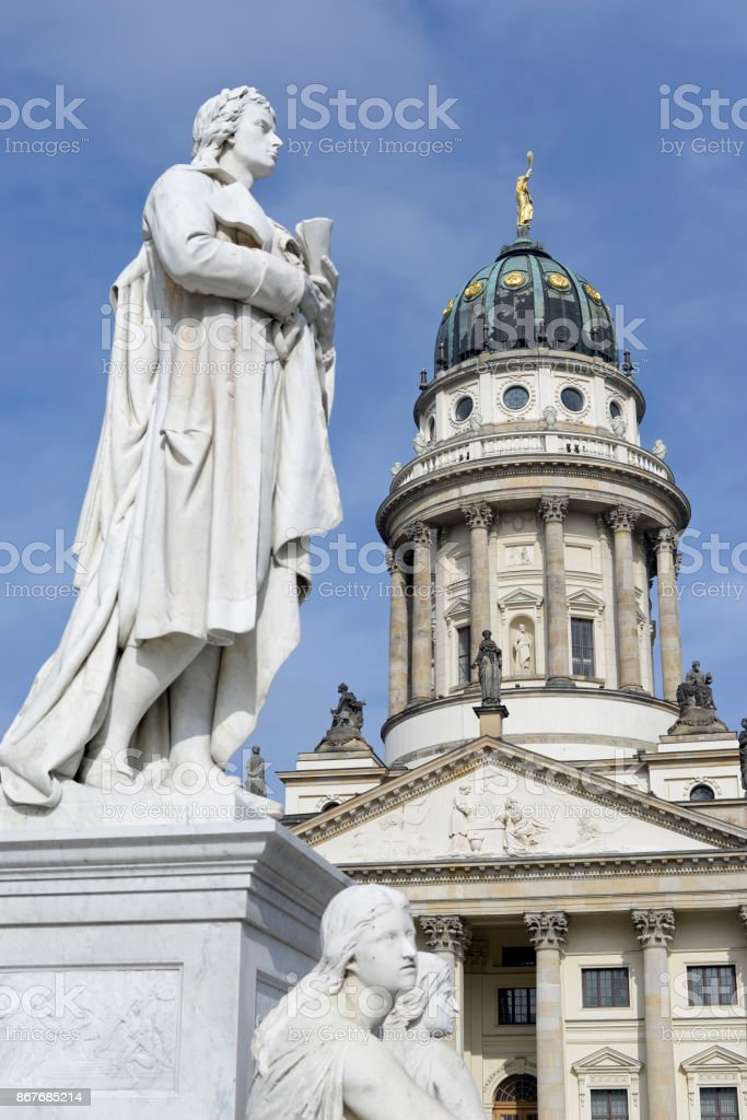 french cathedral berlin stock photo