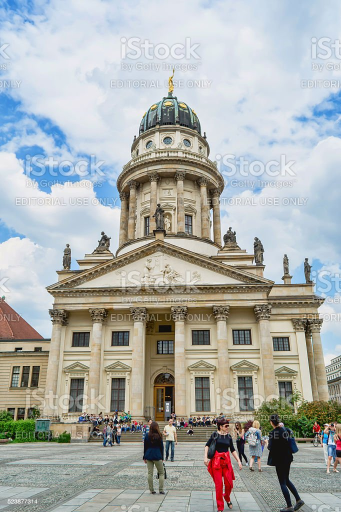 French Cathedral in Berlin. stock photo