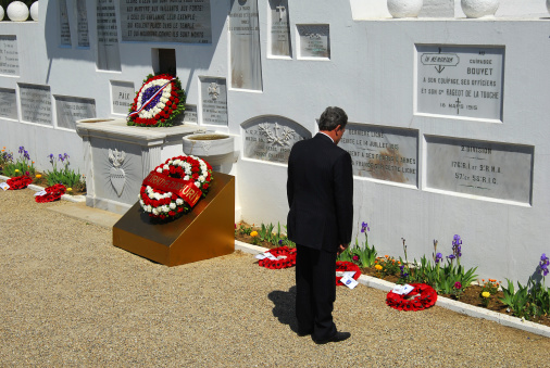 French Cemetery and respect ceremony