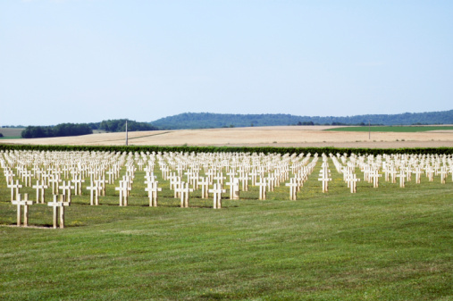 French Cemetery In Champagne Ardenne Stock Photo - Download Image Now