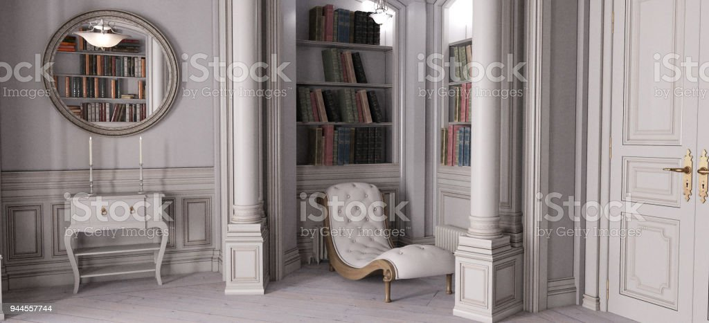 French Chateau Bedroom Stock Photo - Download Image Now