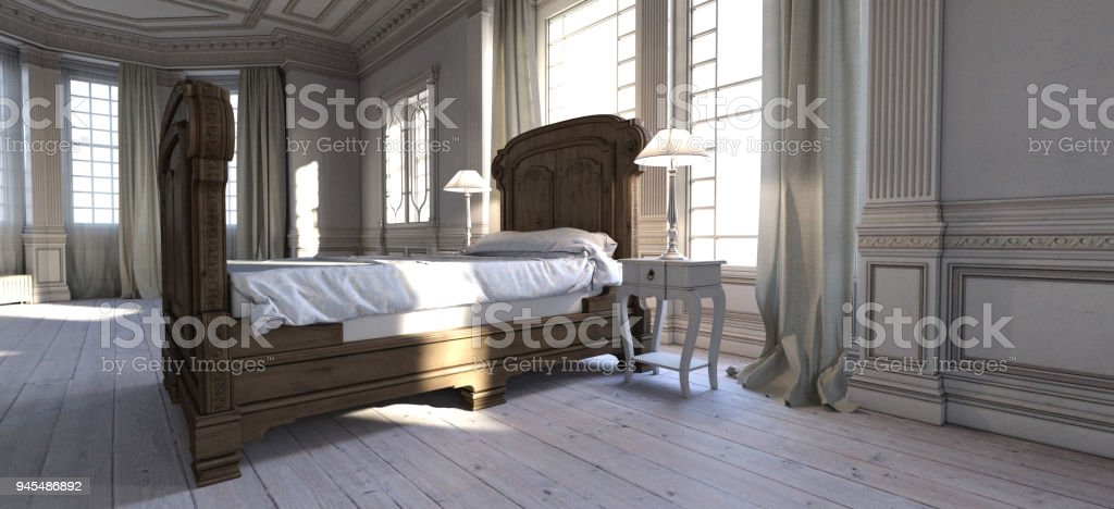 French Chateau Bedroom Stock Photo & More Pictures of ...