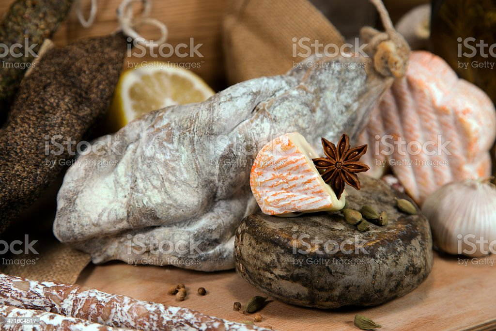 French cheese with meat royalty-free stock photo