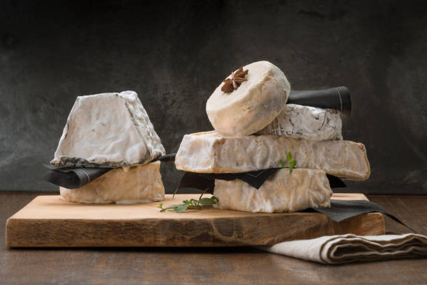 French cheeses stock photo