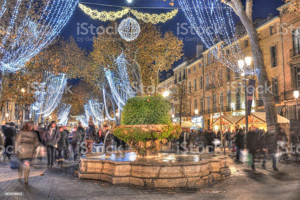 French Christmas market stock photo