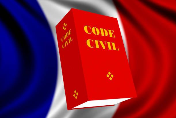 French Civil Code book stock photo