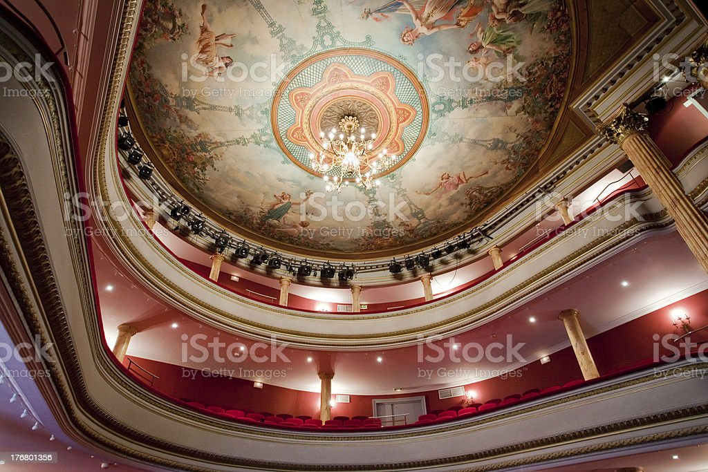 French classical theater stock photo