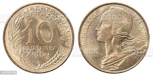 French coin 10 centimes