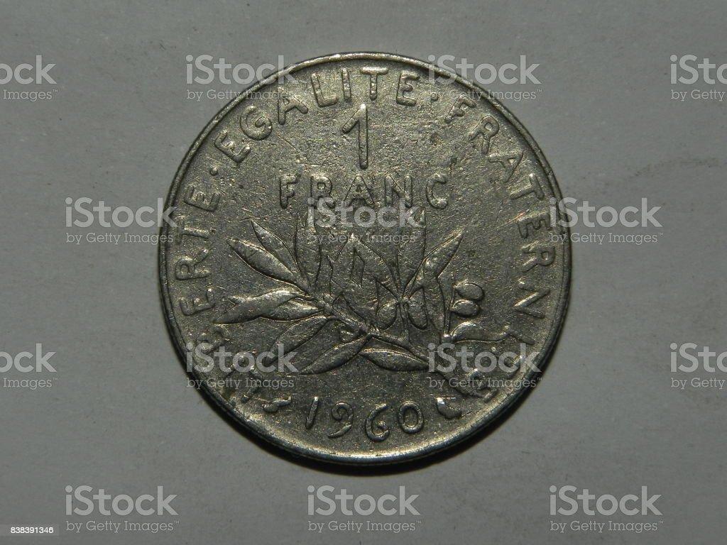 Französische Münze Makro Stock Fotografie Und Mehr Bilder Von 1 Cent