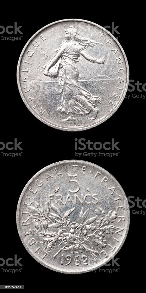 French Coin royalty-free stock photo