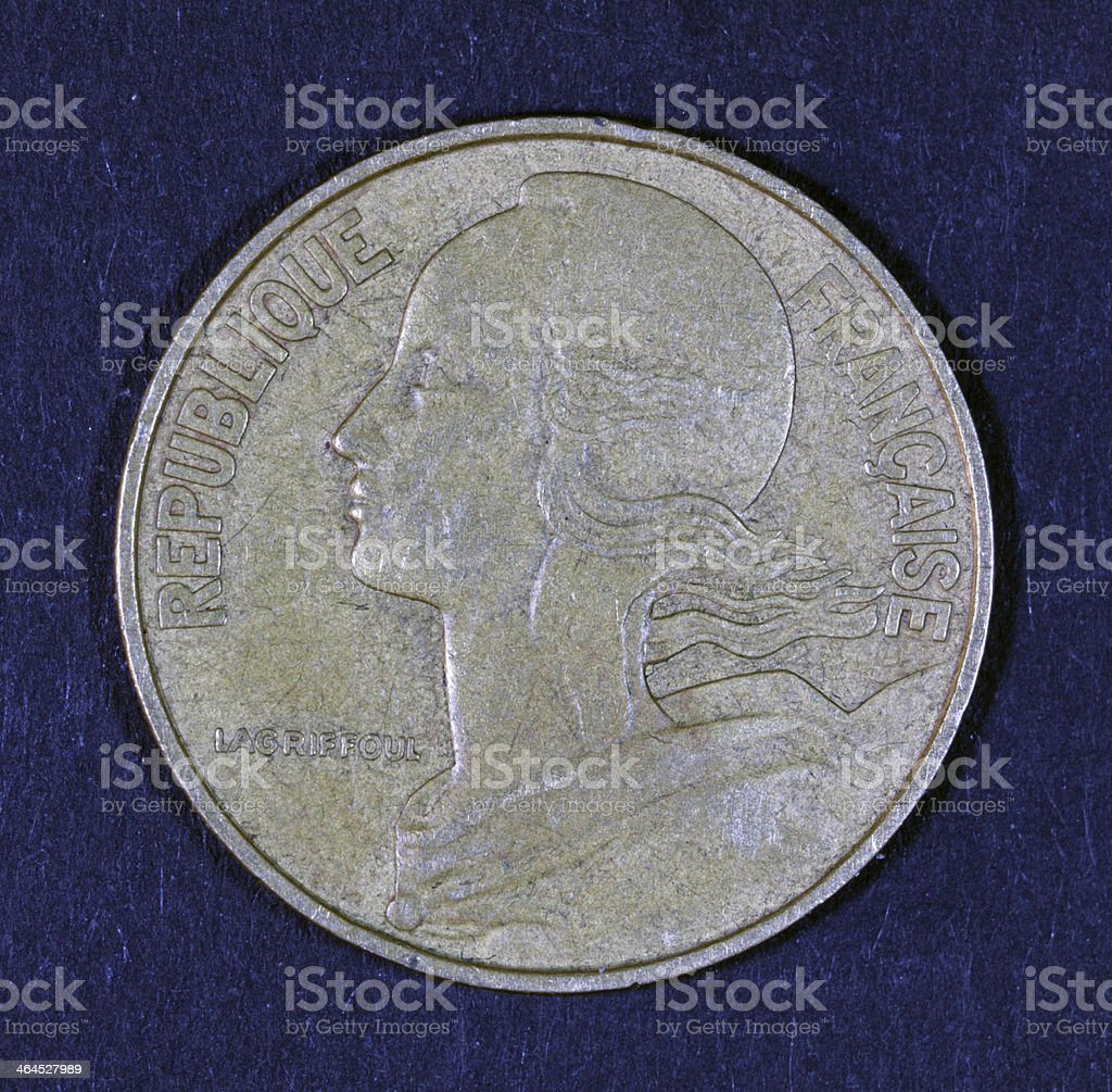 French coin portrait. stock photo