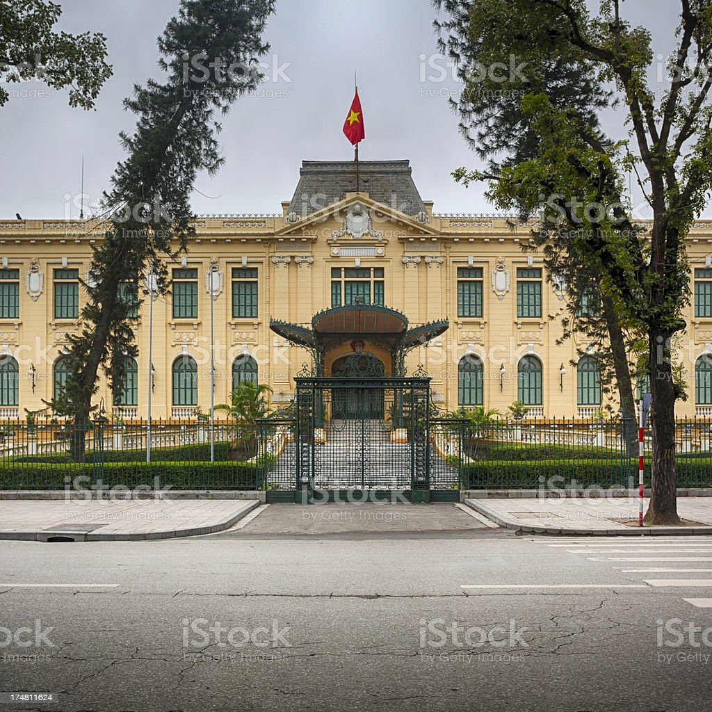 French colonial architecture stock photo