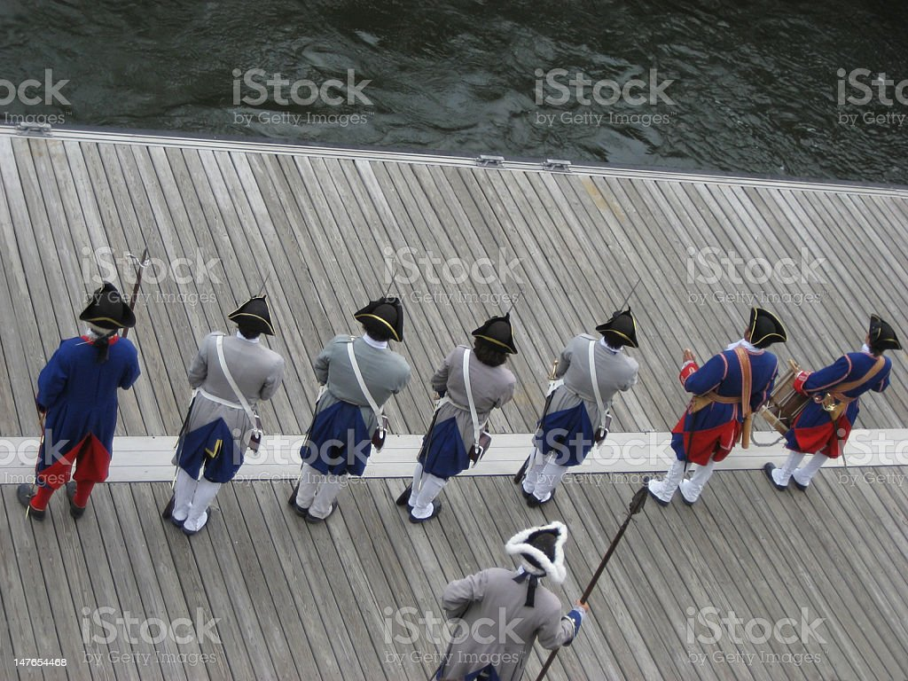 French colonials royalty-free stock photo