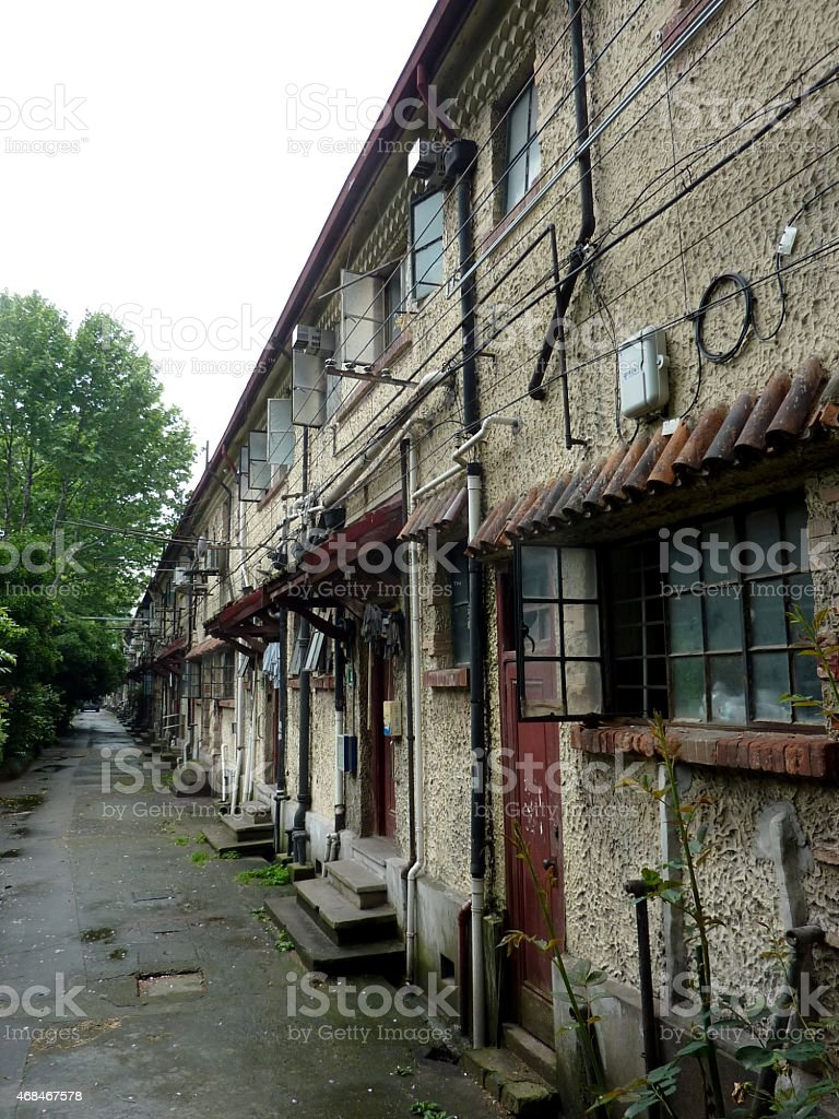 French concession apartments, Shanghai stock photo
