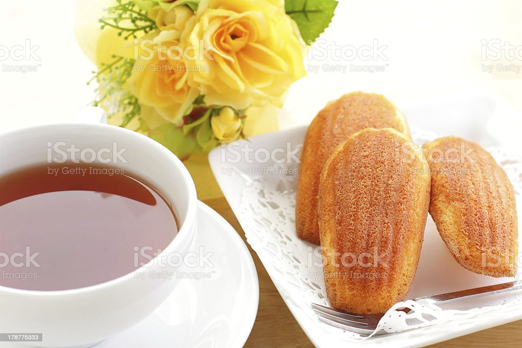 French confectionery and tea royalty-free stock photo