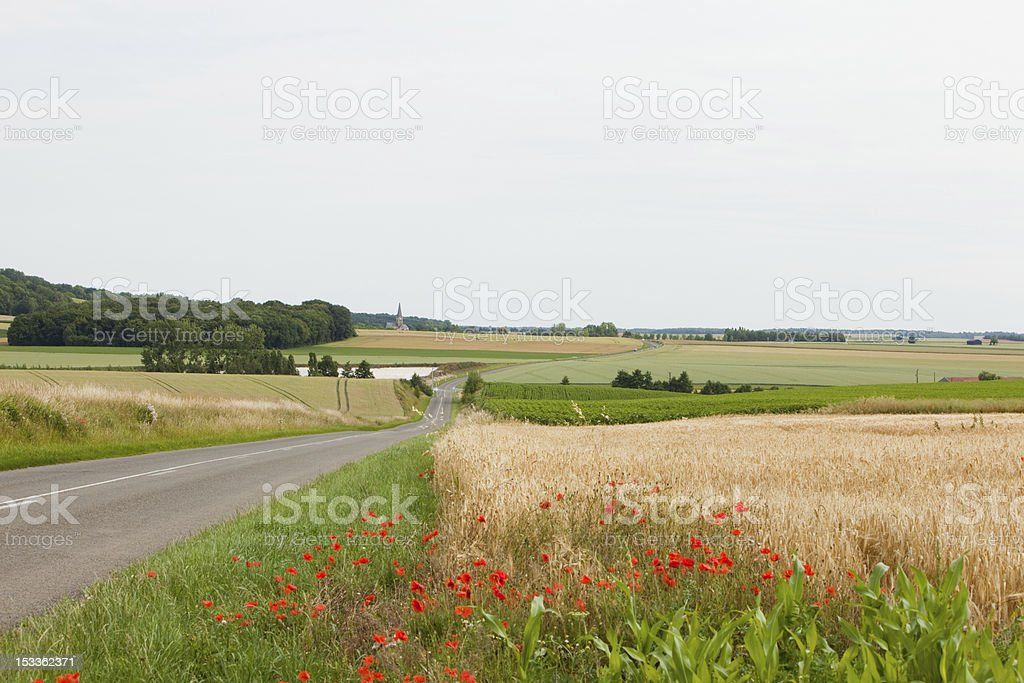 French Countryside stock photo