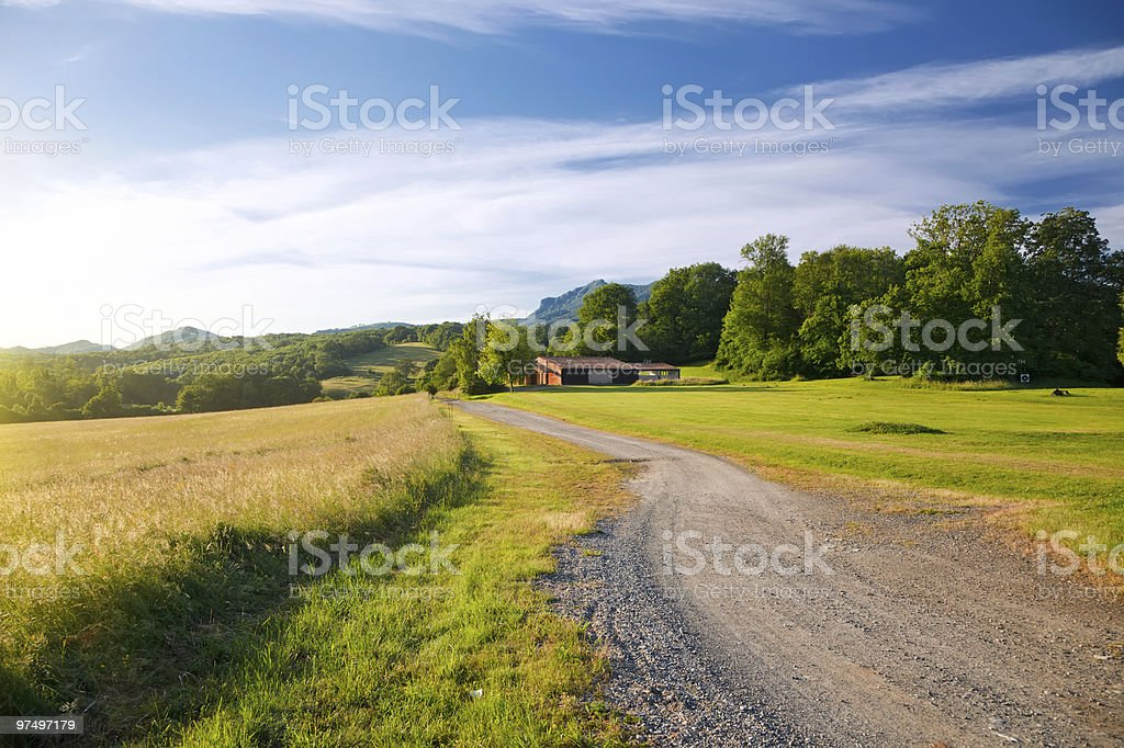 French countryside royalty-free stock photo