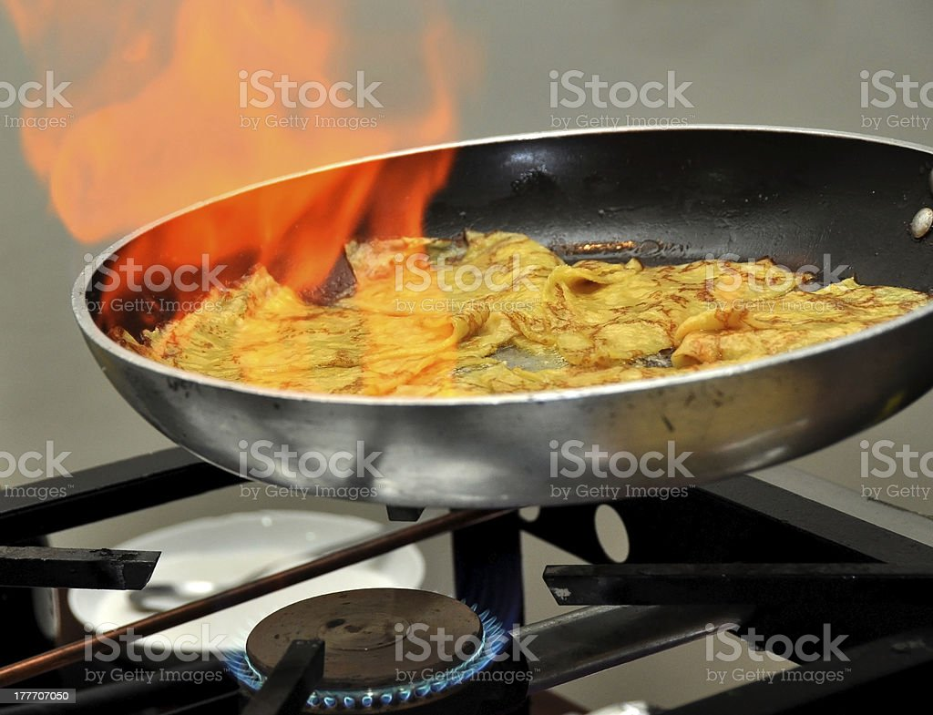 French crepes stock photo