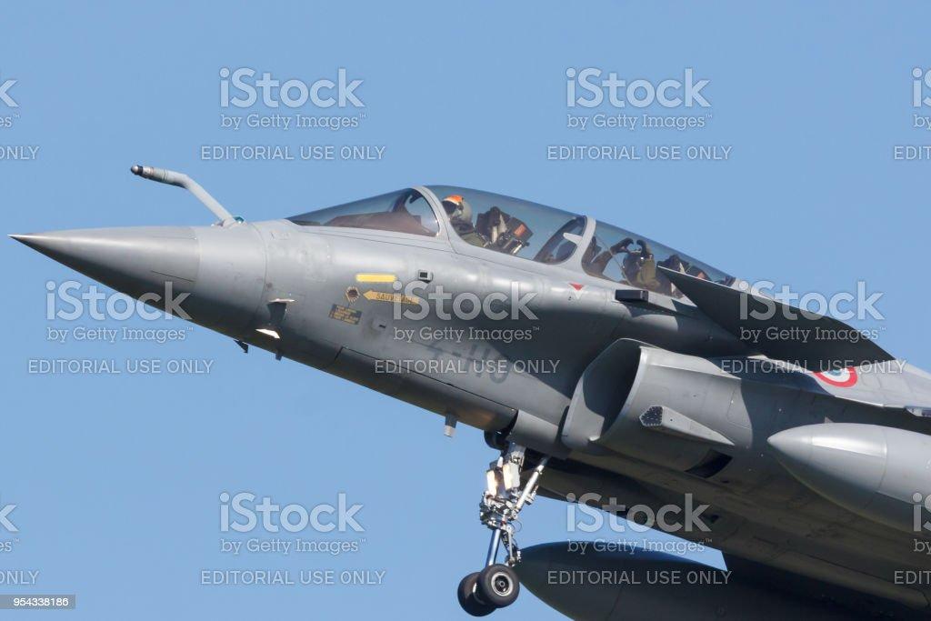 Een Franse Dassault Rafale tijdens de oefening Frisian Flag foto