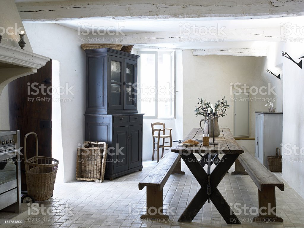 French dining room stock photo