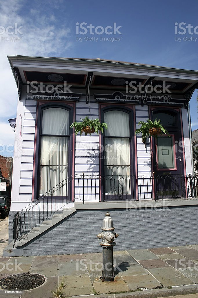 french district house royalty-free stock photo