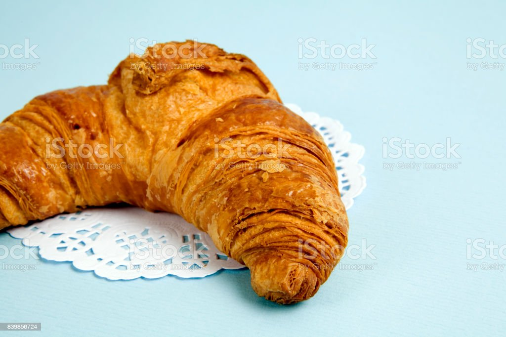 French doily croissant stock photo