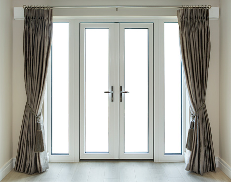 French Doors With Clipping Path Stock Photo Download Image Now Istock