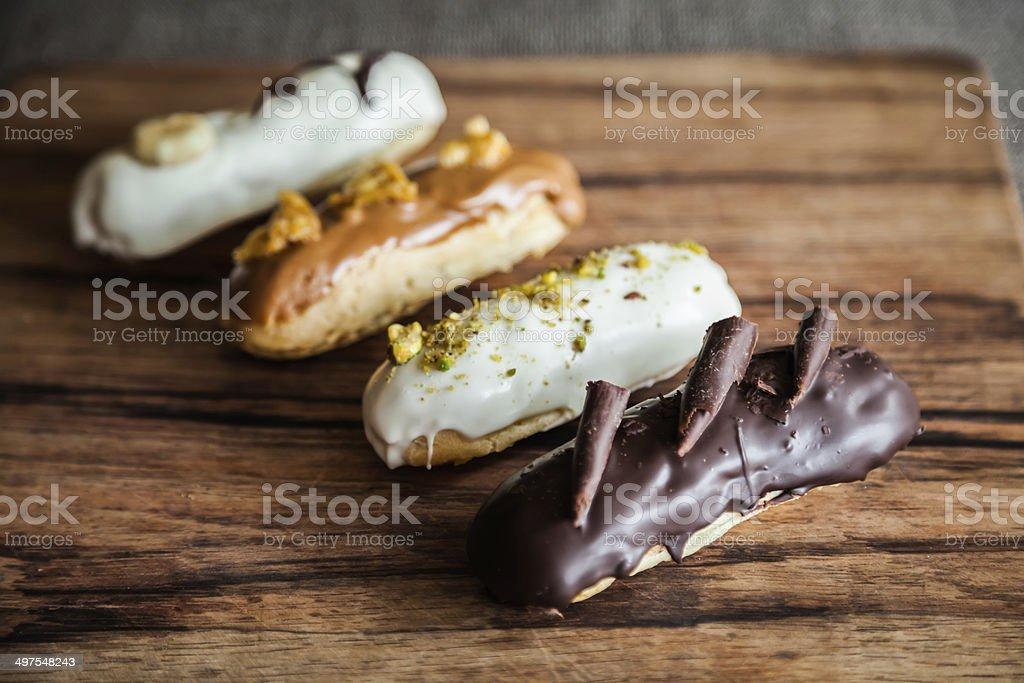French Eclairs stock photo