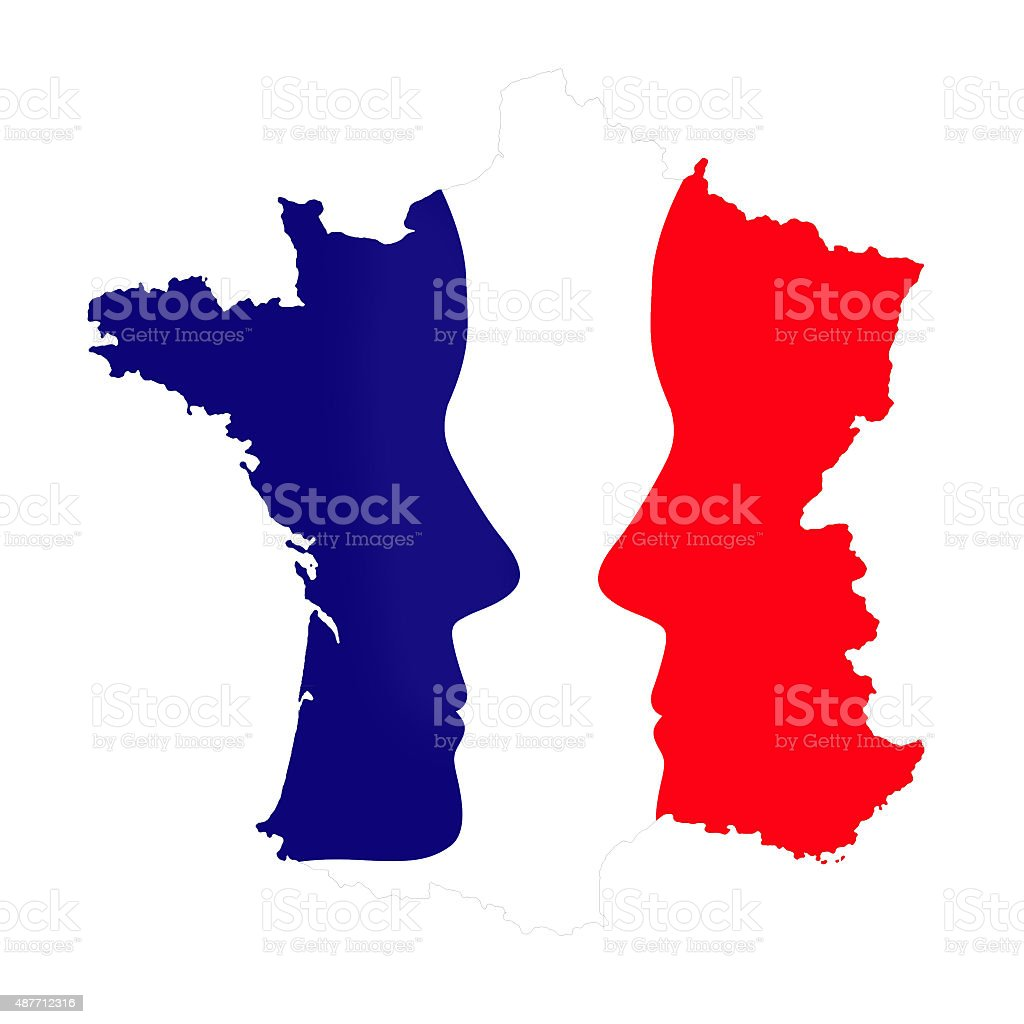French elections concept stock photo